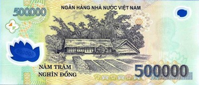 VND Circulated 500k - Back